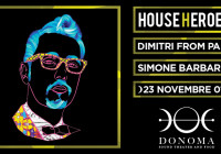 DOMENICA 23 NOVEMBRE, HOUSE HEROES – DIMITRI FROM PARIS
